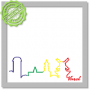 Skyline Sticker